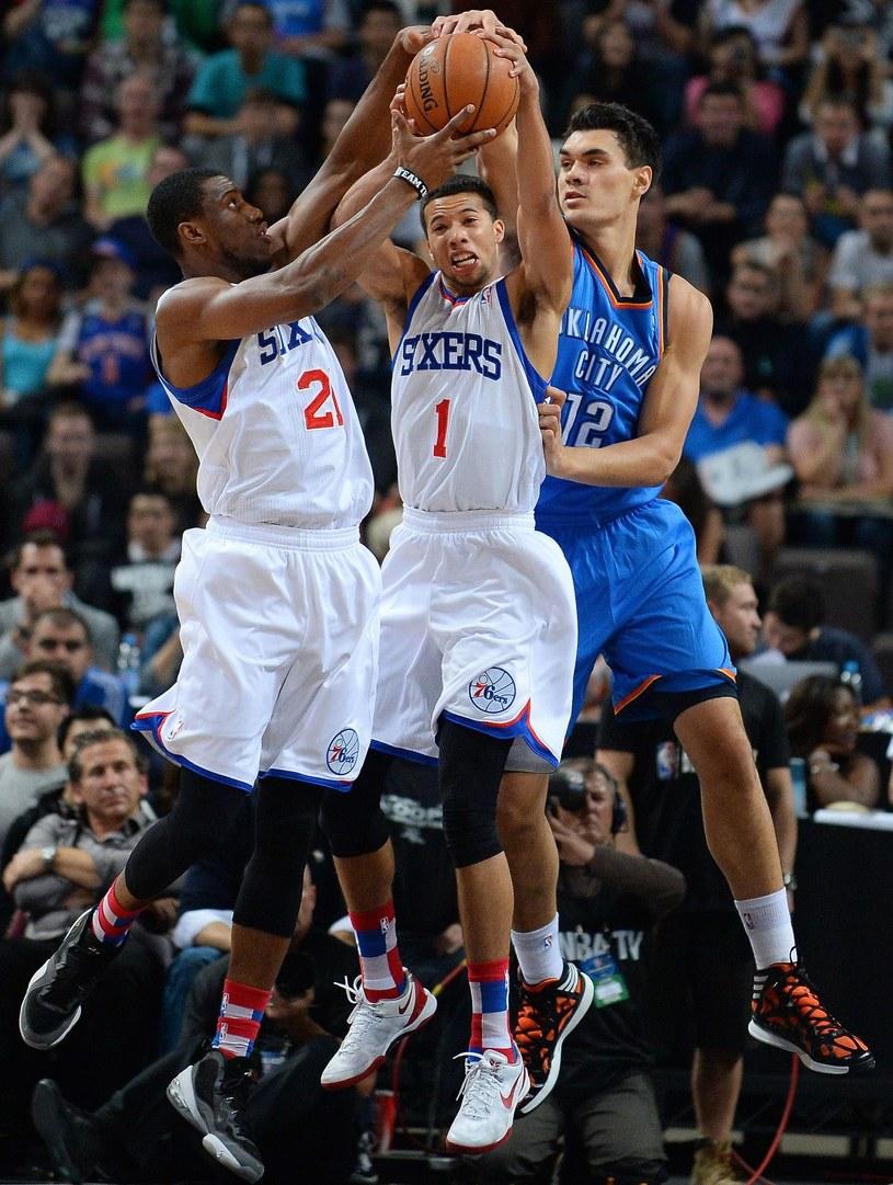 Mecz Philadelphia 76ers z Oklahoma City Thunder /AFP