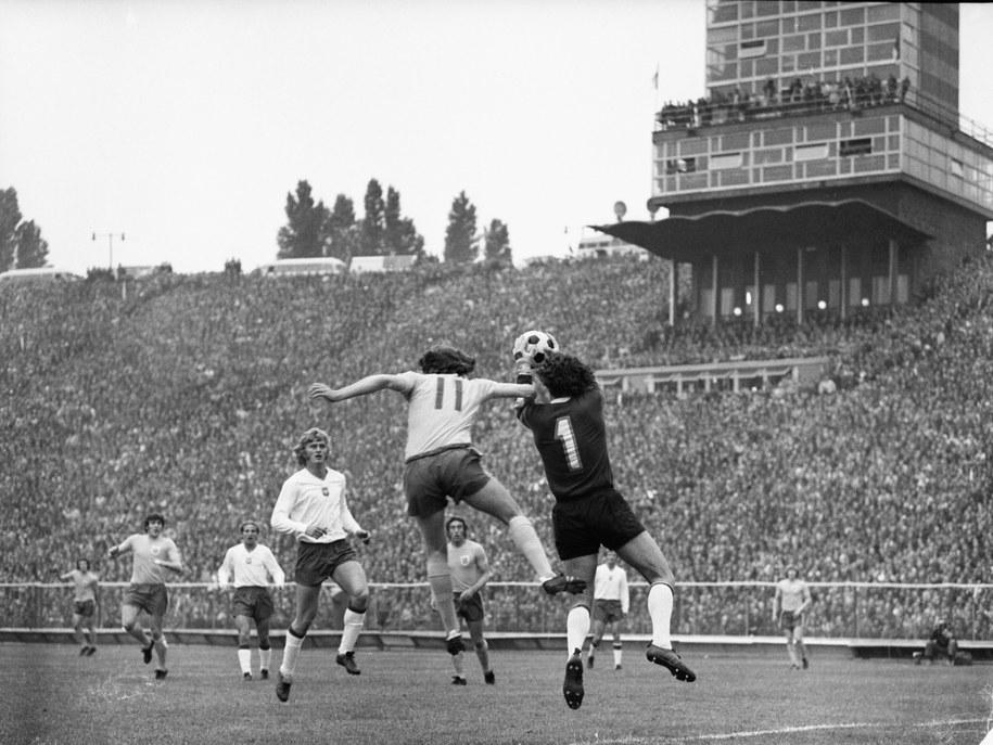 Mecz Polska-Anglia w Chorzowie, 1973 rok /Kazimierz Seko /PAP