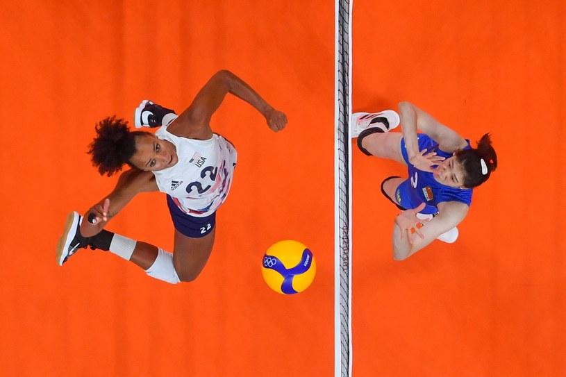 Mecz siatkarek USA - Chiny /Antonin Thuillier /AFP