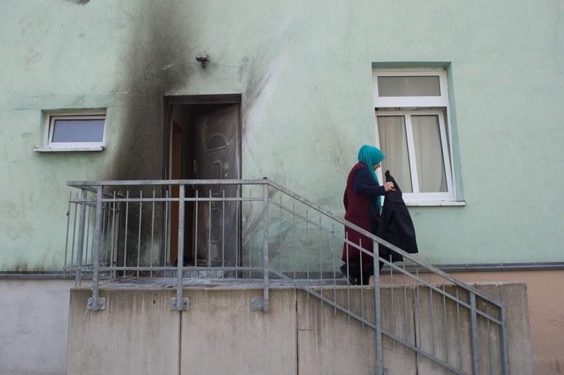 Meczet, przed którym doszło do eksplozji /Sebastian Kahnert  /PAP/EPA