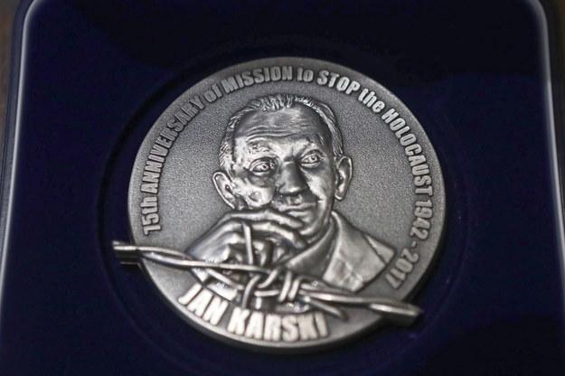 Medal 75-lecia Misji Jana Karskiego /Roman Zawistowski /PAP