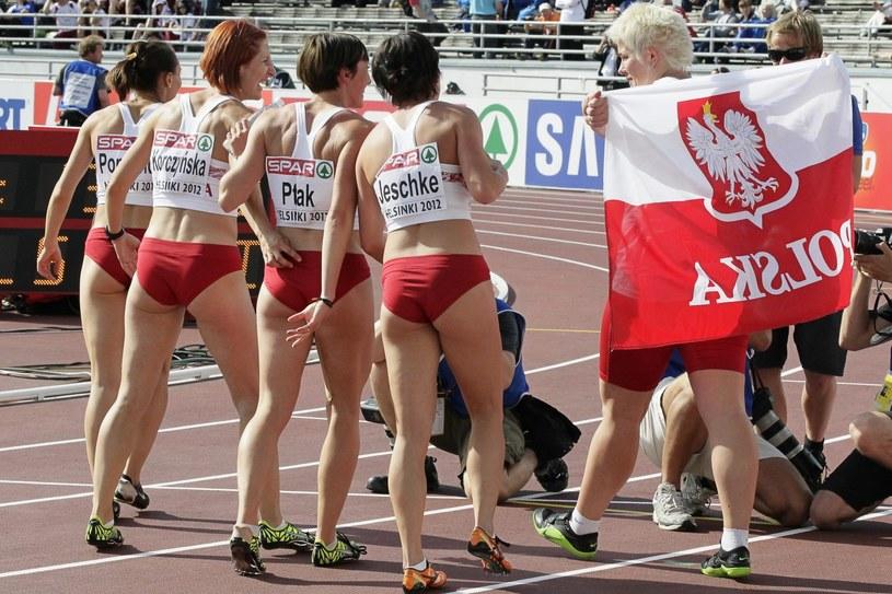 Medalistki mistrzostw Europy - polska sztafeta 4x100 m /PAP/EPA