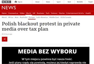 Media bez wyboru. Światowa prasa o bezprecedensowym proteście w Polsce