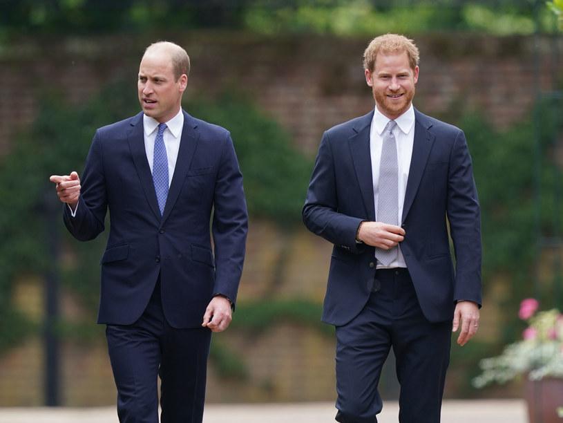 Media były ciekawe, o czym rozmawiali książę William i Harry podczas spotkania /WPA Pool /Getty Images