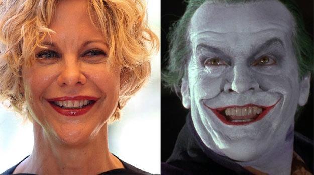 Meg Ryan i Jack Nicholson w roli Jokera. Znajdź różnice. /