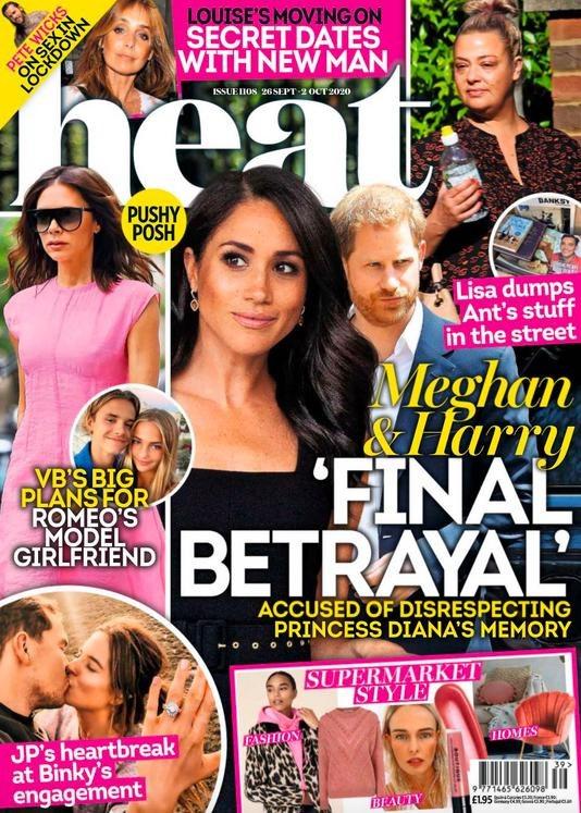 """Meghan i Harry - magazyn """"Heat"""" /Heat /materiał zewnętrzny"""