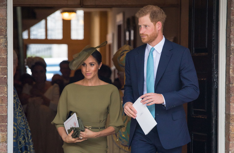 Meghan i Harry na chrzcie Louisa /WPA Pool /Getty Images