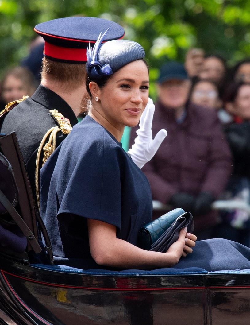Meghan i Harry na urodzinach królowej /Splash News /East News