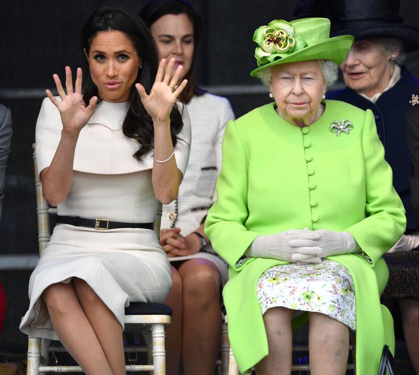 Meghan i królowa Elżbieta II / PA Wire    /East News