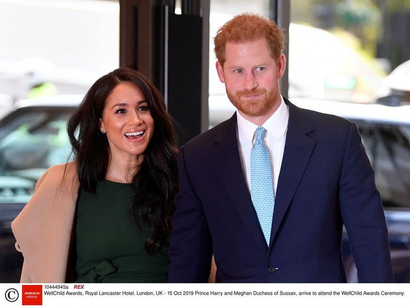 Meghan i książę Harry /Rex Features /East News