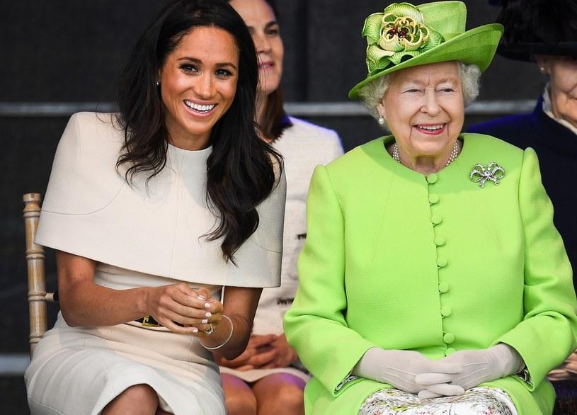 Meghan Markle i królowa Elżbieta II mają za sobą trudne chwile. Czy narodziny Lilibet Diany pogodzą zwaśnioną rodzinę? /Jeff J Mitchell /Getty Images