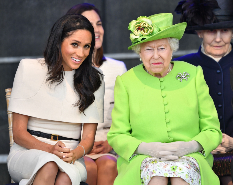Meghan Markle i królowa Elżbieta II /East News