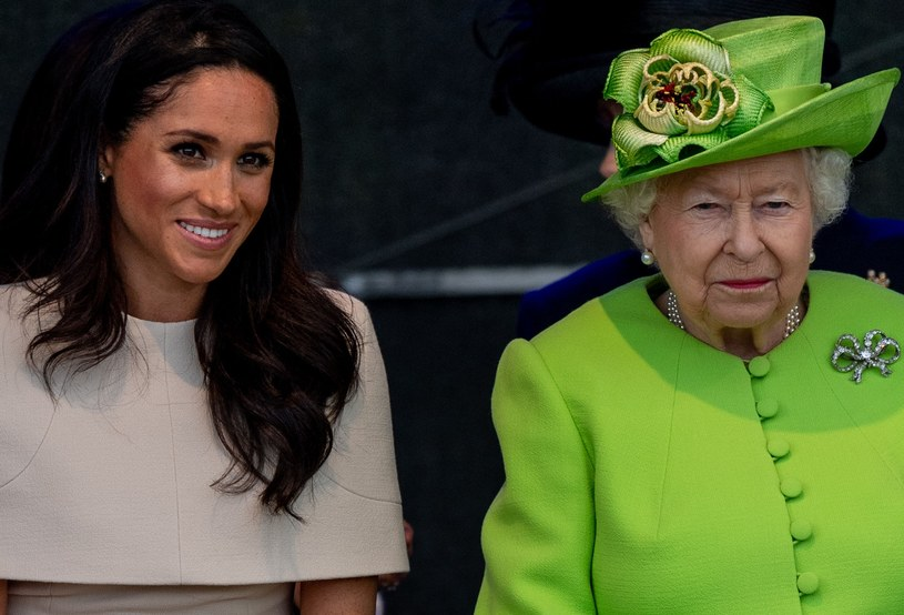 Meghan Markle i królowa Elżbieta II /Mark Cuthbert /Getty Images