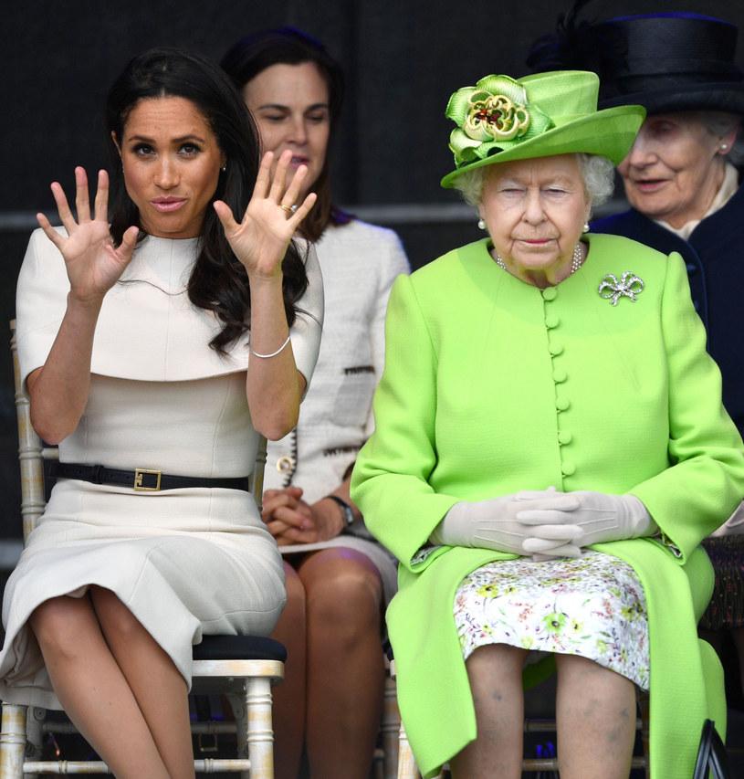 Meghan Markle i królowa Elzbieta II /Tim Rooke/REX/Shutterstock /East News