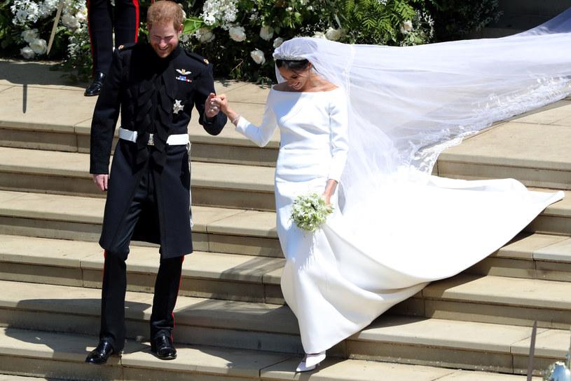 Meghan Markle i książę Harry w dniu ślubu /East News