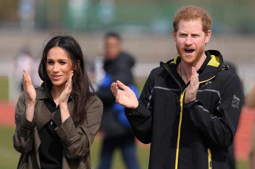 Meghan Markle i książę Harry /Rex Features /East News