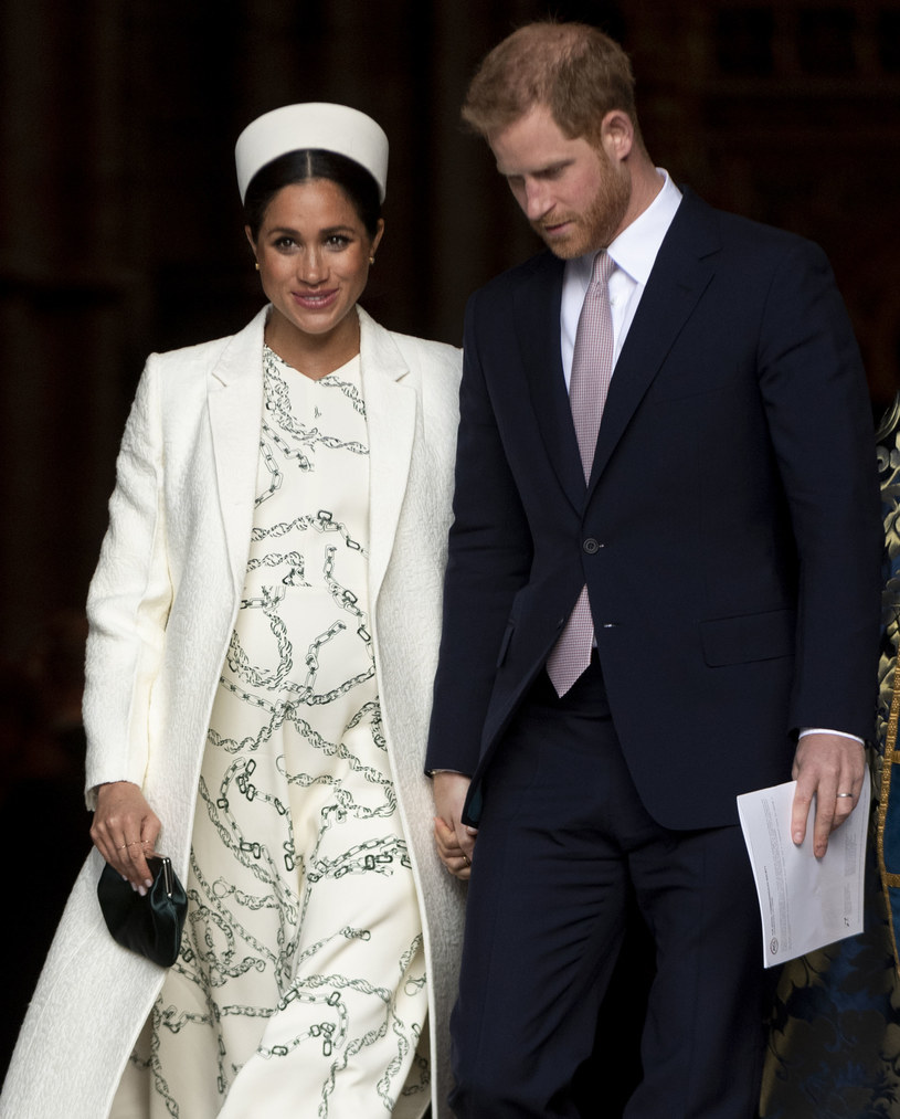 Meghan Markle i książę Harry /Mark Cuthbert
