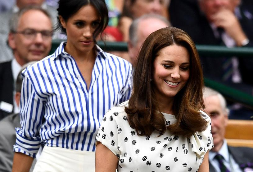 Meghan Markle i księżna Kate na finale Wimbledonu /Clive Mason /Getty Images