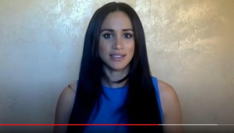 Meghan Markle podczas przemówienia /YouTube /materiał zewnętrzny