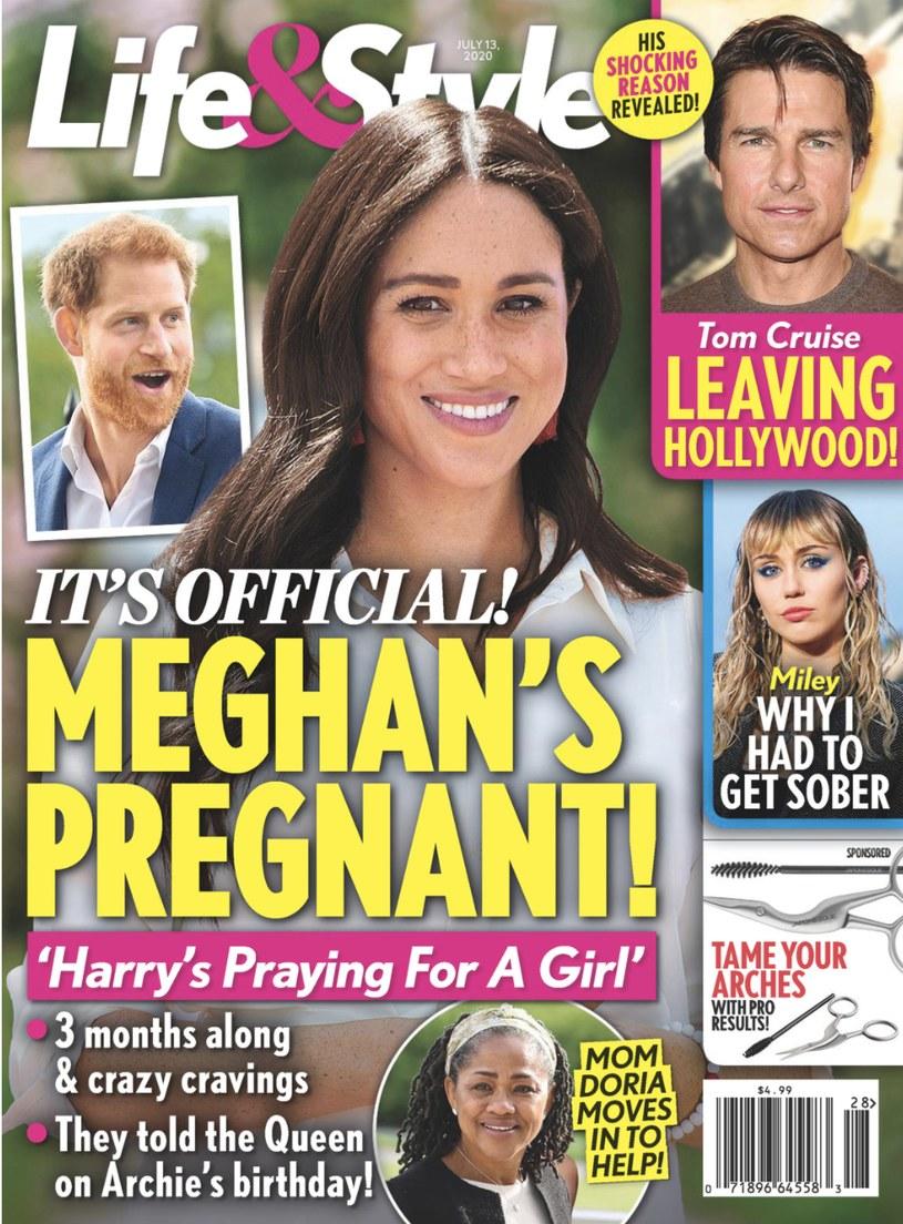 """Meghan Markle w """"oficjalnie"""" w ciąży na okładce """"Life&Style"""" /materiał zewnętrzny"""