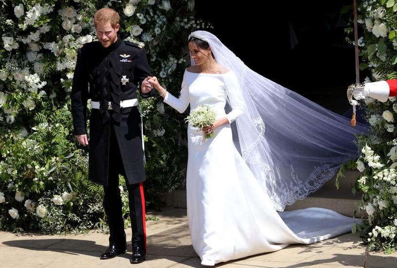 Meghan Markle w sukni ślubnej /WPA Pool /Getty Images