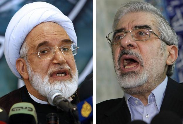 Mehdi Karubi i Mir-Hosejn Musawi /AFP