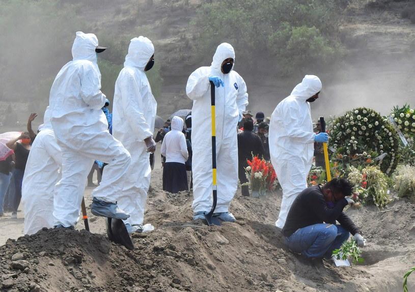 Meksyk: Liczba zgonów z powodu koronawirusa przekroczyła 10 tys. //Jorge Nunez /PAP/EPA
