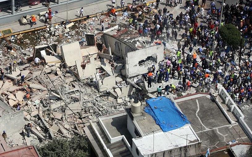 Meksyk po trzęsieniu ziemi /PAP/EPA