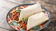Meksykańskie burrito z mięsem