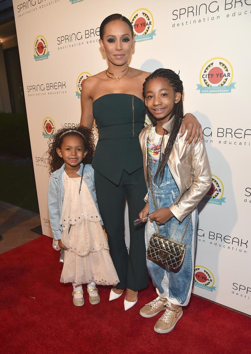 Mel B z młodszymi córkami /Alberto E. Rodriguez /Getty Images
