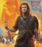 "Mel Gibson w filmie ""Braveheart"" /"