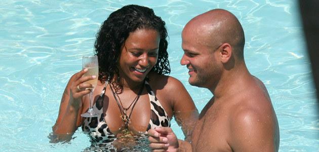 Mel i Stephen w Miami  /Splashnews