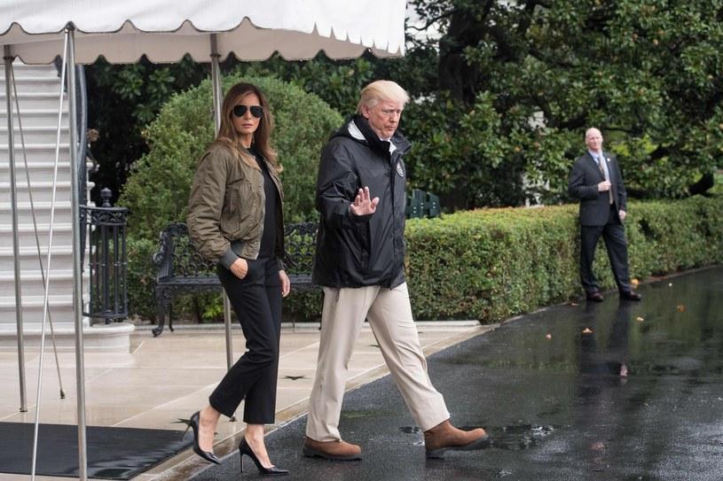 Melania i Donald Trump w Teksasie /East News