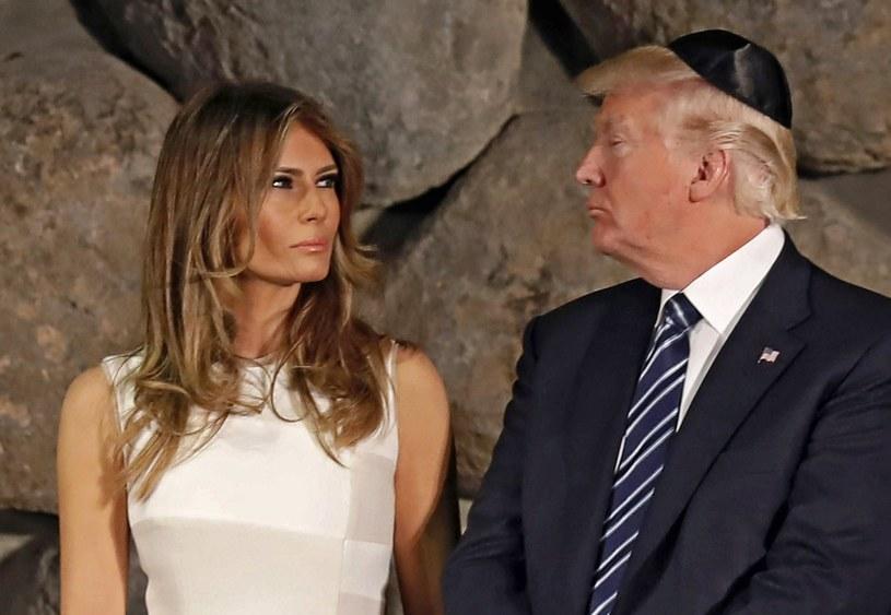 Melania i Donald Trump /GALI TIBBON /PAP/EPA