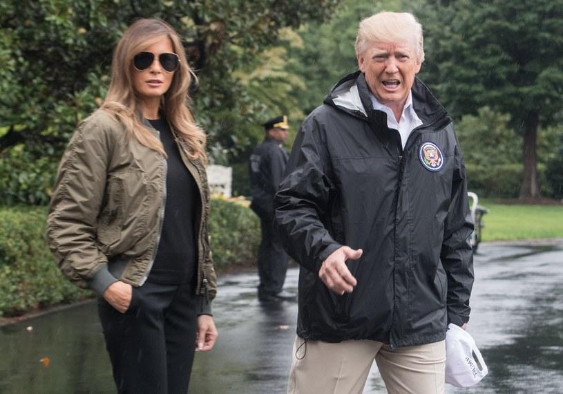 Melania i Donald Trump /NICHOLAS KAMM /AFP