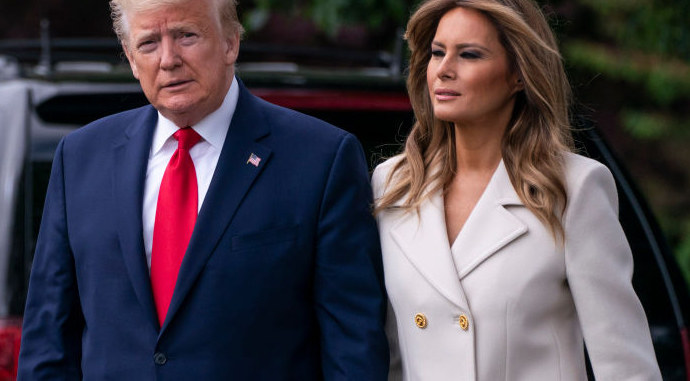 Melania i Donald Trump / SARAH SILBIGER /Getty Images