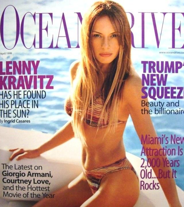"""Melania na pierwszej okładce magazynu """"Ocean Drive"""" /Twitter"""