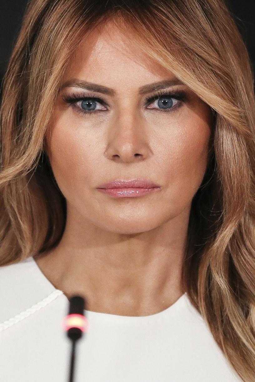 Melania Trump często wyglądała na smutną, niezadowoloną podczas publicznych wystąpień /Sipa USA /East News