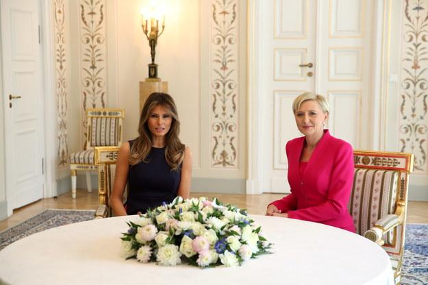Melania Trump i Agata Kornhauser-Duda /Rafal Guz /PAP