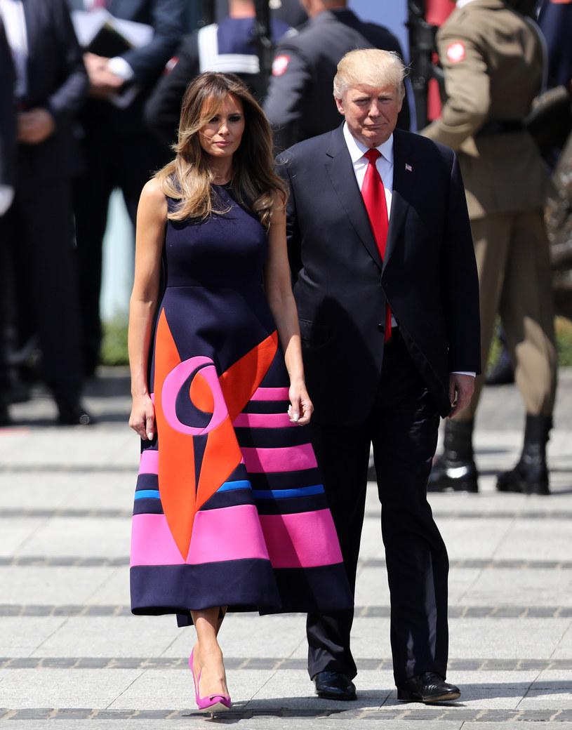 Melania Trump i Donald Trump w Warszawie /Stanisław Kowalczuk /East News