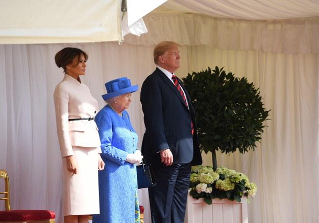 Melania Trump, królowa Elżbieta II i Donald Trump /SGT PAUL RANDALL RLC / BRITISH MINISTRY OF DEFENCE / HANDOUT /PAP/EPA