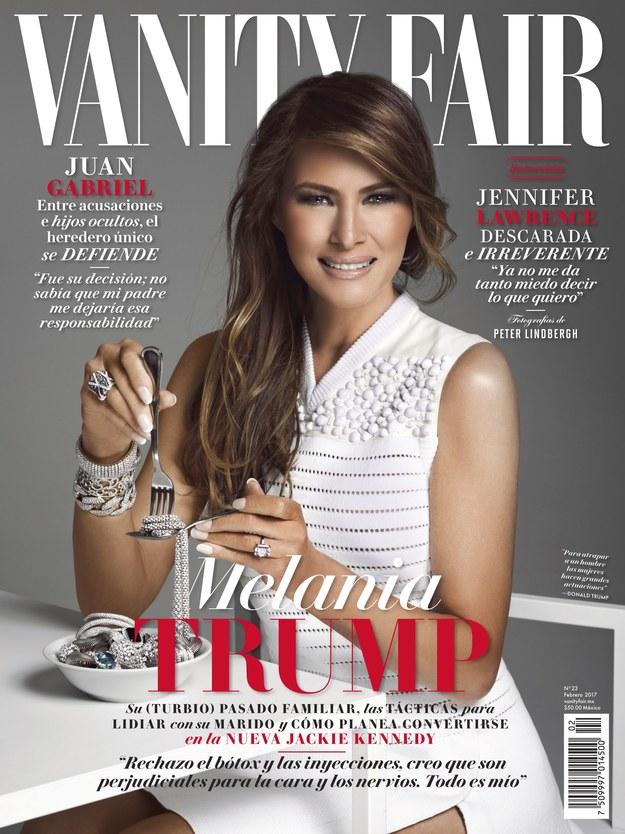 Melania Trump na okładce meksykańskiego wydania Vanity Fair /VANITY FAIR MEXICO  /PAP/EPA
