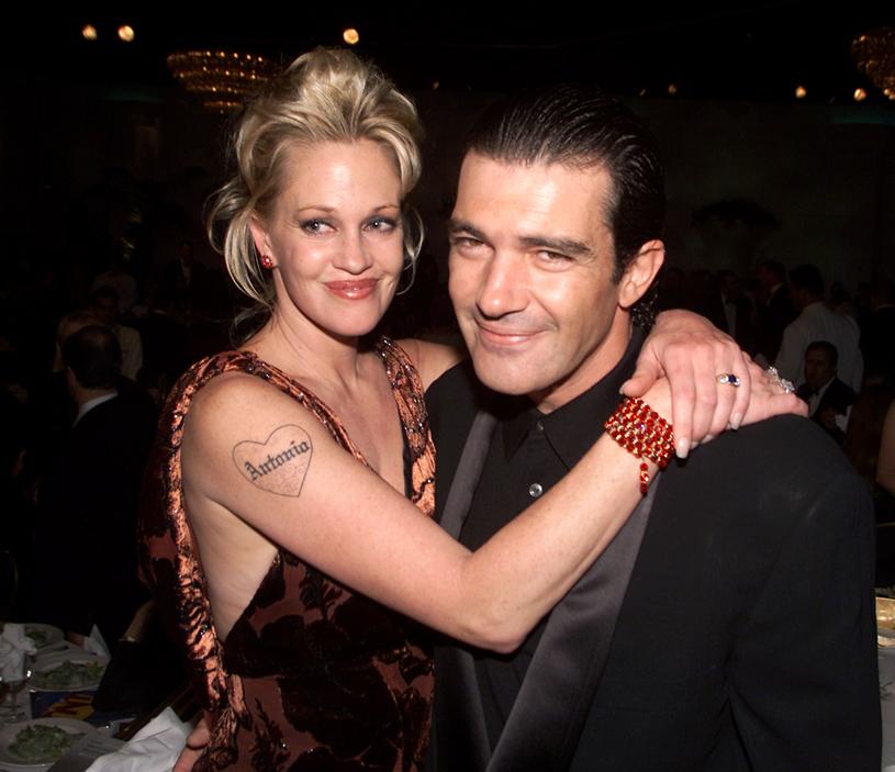 Melanie Griffith i Antonio Banderas w Hollywood (2000) /Kevin Winter /Getty Images