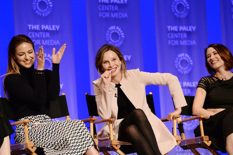 Melissa Benoist, Calista Flockhart, Chyler Leigh na panelu Paley Centre /Matt Winkelmeyer /Getty Images