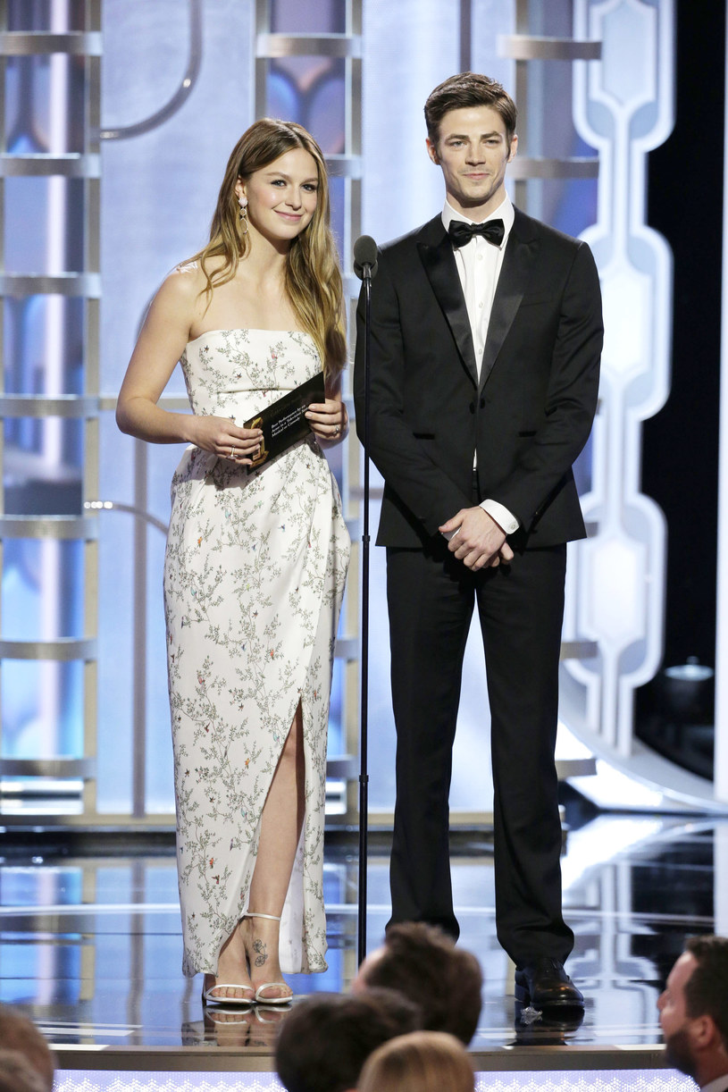 Melissa Benoist, Grant Gustin /Handout /Getty Images