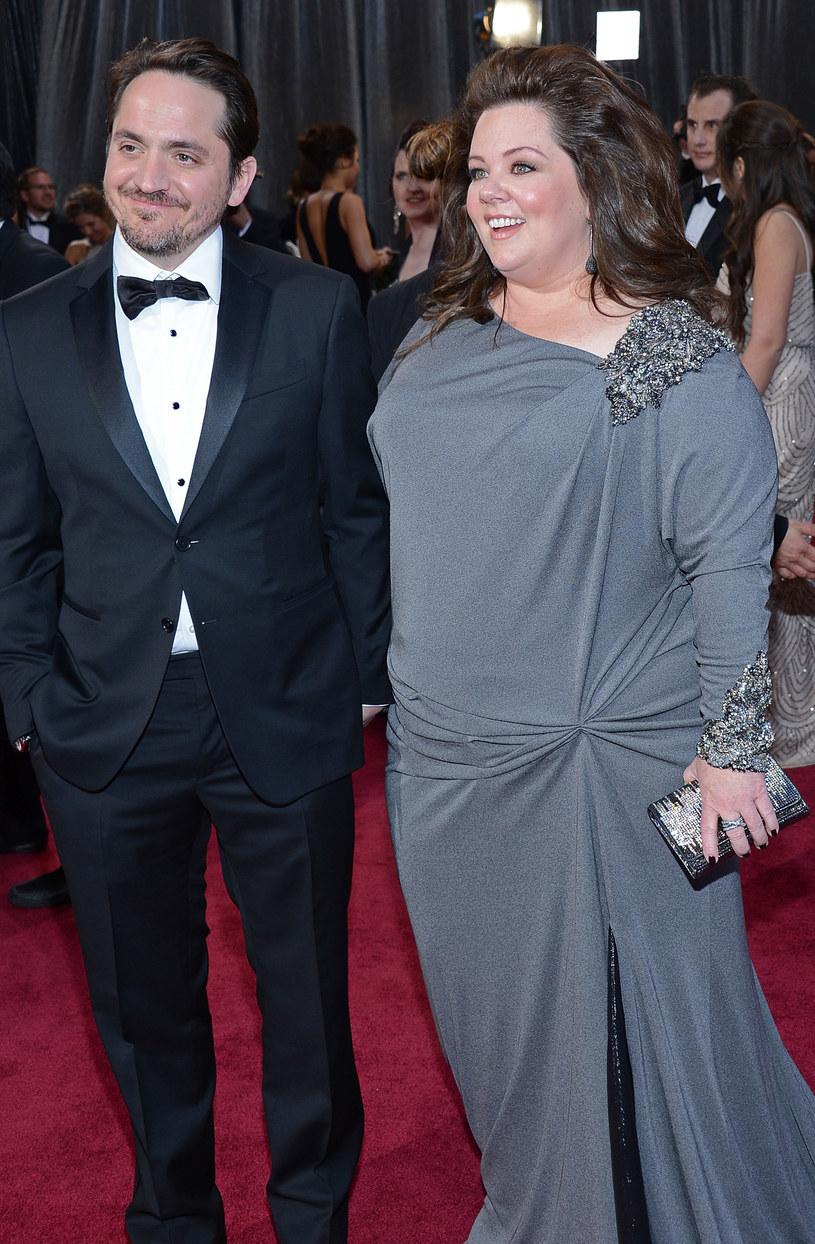 Melissa McCarthy z mężem /Michael Buckner  /Getty Images
