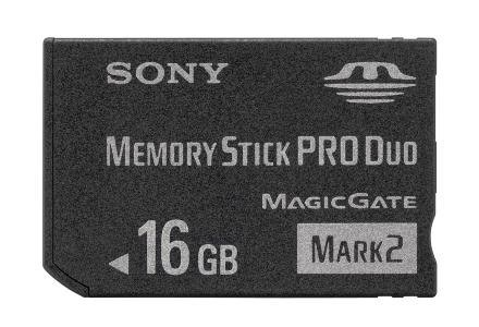 Memory Stck Pro Duo 16 GB /materiały prasowe