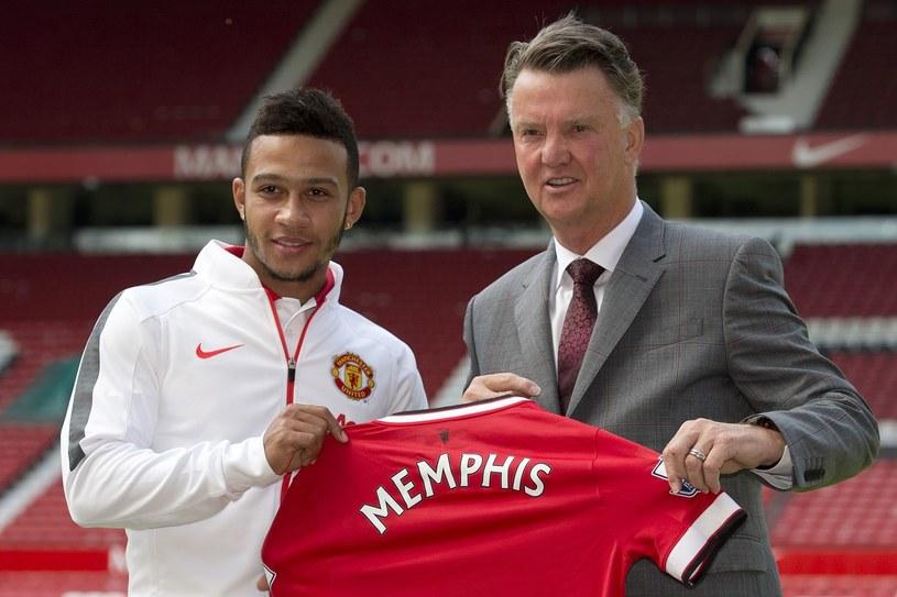 Memphis Depay i Louis van Gaal /AFP