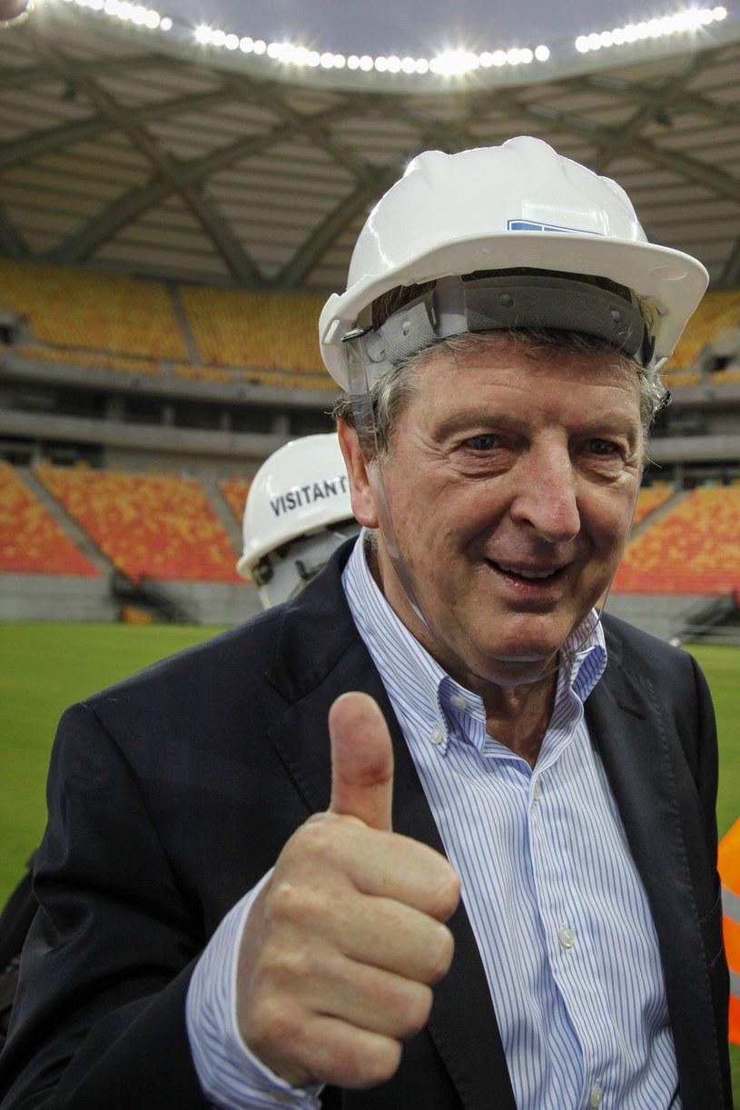 Menedżer Anglików Roy Hodgson byl już na stadionie w Manaus /AFP