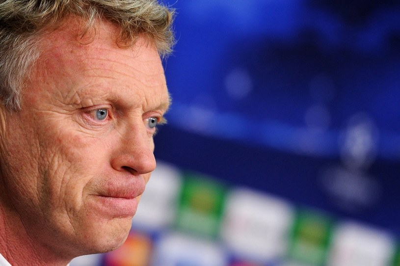 Menedżer Manchesteru United David Moyes na konferencji prasowej w Leverkusen /PAP/EPA